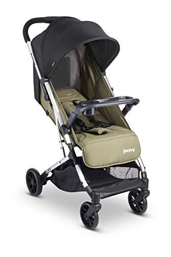 Joovy Kooper Stroller, Lightweight Travel Stroller, Compact Fold with Tray, Olive