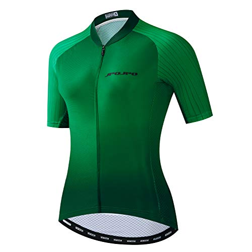 JPOJPO Donne Ciclismo Jersey, Full Zipper Bicicletta Manica Corta Estate Mountain Road Ciclismo Abbigliamento Usura - - petto 86/92 cm = M
