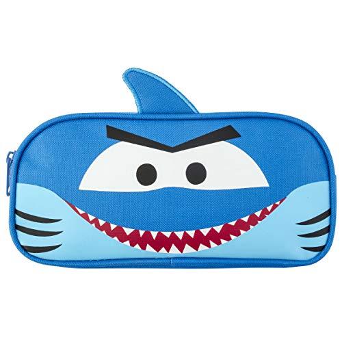 Stephen Joseph Boys' Little Pencil Pouch, Blue Shark