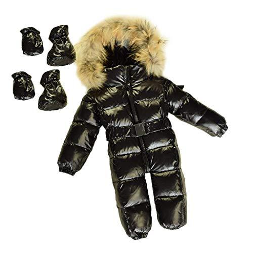 Manyao - Saco de dormir para bebé o niña, grueso, para bebé, invierno, manta para bebé, accesorio para cochecito de bebé, color negro