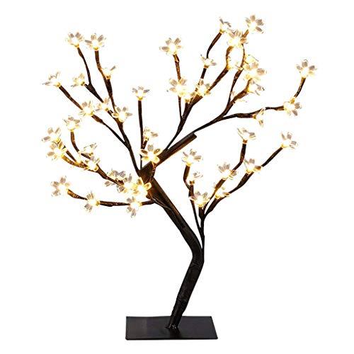 GROOMY Kirschbaum Lichter, Kirschblüten Schreibtisch Top Bonsai Baum Licht, dekorative warmweißes Licht für Home Festival Party Hochzeit Weihnachten Indoor Outdoor Dekoration
