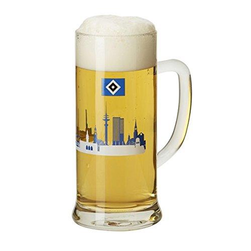 Hamburger SV Bierkrug Skyline, Bierseidel, Krug HSV - Plus Lesezeichen I Love Hamburg