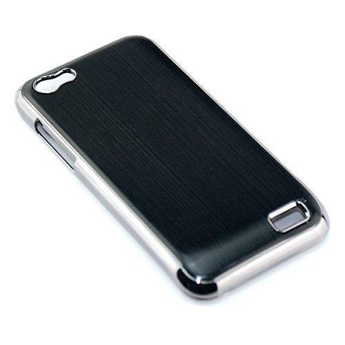 Preisvergleich Produktbild Saxonia. Aluminium Case für HTC One V Hochwertige Brushed Alu Schutzhülle Handyhülle Back Cover / beste Qualität und Verarbeitung / Farbe:Schwarz