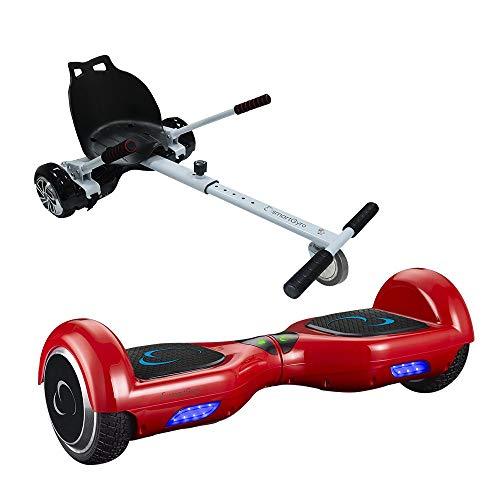 """smartGyro X1s Red + Go Kart Pack Hoverboard - (Ruedas 6,5"""", Batería de Litio, Estructura de kart Resistente y cómoda), silla más patinete eléctrico"""