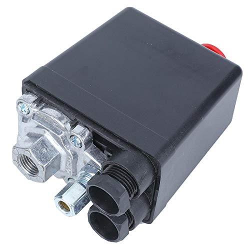 Agatige Interruptor de presión del compresor de Aire, válvula reguladora Ajustable de Control, válvula de Control de Instrumentos, Orificio único para compresor de Aire