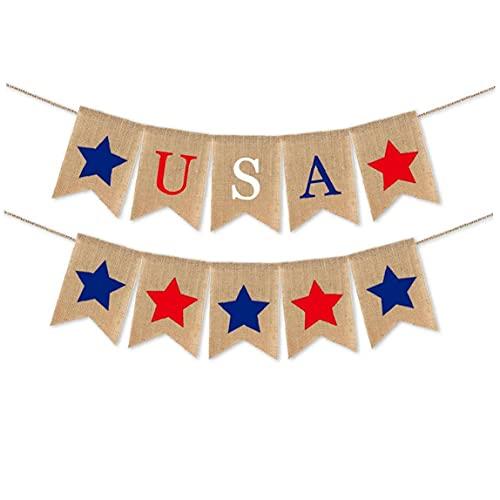 finebrand Banderas De Estados Unidos Banderas De Cuerda Patriótico Bunting Banner USA 4 De Julio Triángulo De La Bandera Guirnaldas para La Decoración De Día De La Independencia Recuerdos Style1