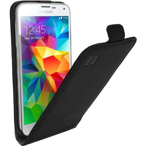 iGadgitz U2867 Funda Compatible con teléfono móvil Libro Negro - Fundas Compatible con teléfonos móviles (Libro, Samsung, Galaxy S5 SM-G900, Negro)