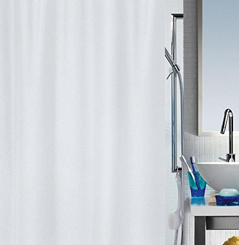 """Spirella Anti-Schimmel Duschvorhang - Anti-Bakteriell, waschbar, wasserdicht - Polyester, """"Primo """" 240x200cm Weiß"""