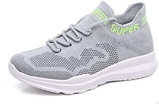 FYXKGLa Women's Shoes Summer New Socks Shoes Women's Shoes Wild Lace Casual Sports Shoes Women (Color : Grey, Size : 39EU)