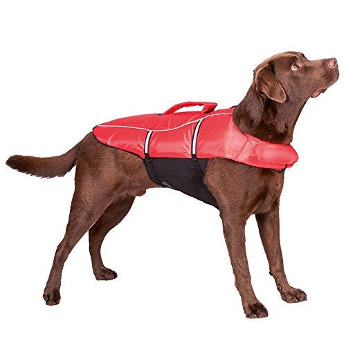 Trixie 30145 Schwimmweste, für Hunde, XL: 65 cm/max. 45 kg, rot/schwarz