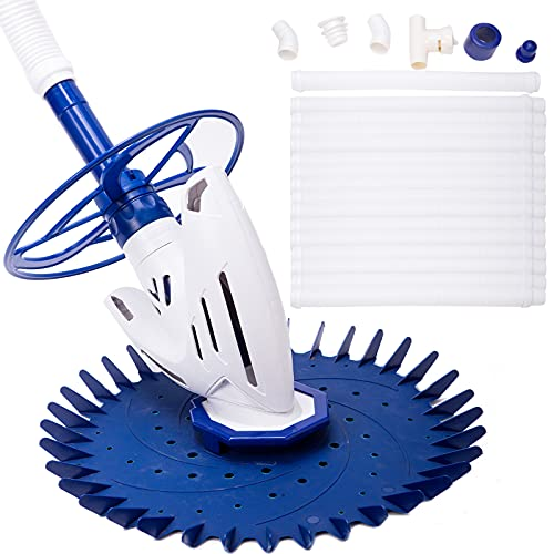 above ground pool vacuums YSMJ Upgraded Automatic Pool Cleaner Swimming Pool Vacuum Cleaner for Above Ground In-ground Pool Powerful Suction Pool Sweeper with 16 Hoses Low Noise Easy Assemble