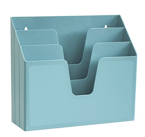 Acrimet Horizontal Triple File Folder Organizer (Solid Green Color)