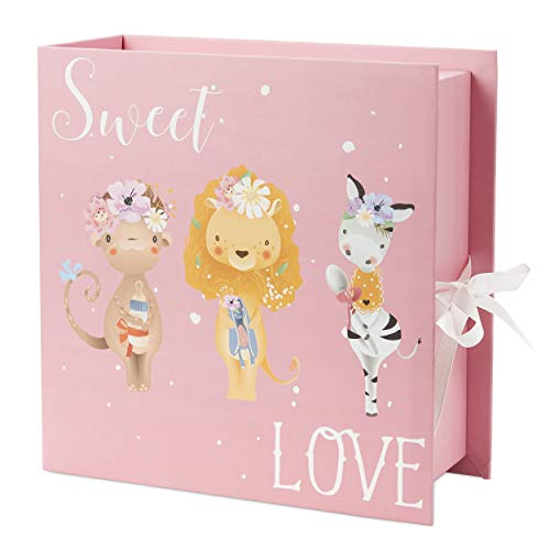 4 Draw Baby Milestone Keepsake Storage Box: Track Treasured Memories - Sweet Love