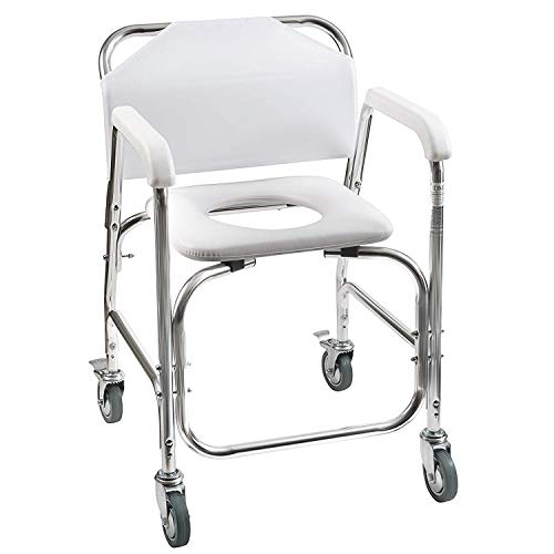 DMI Rolling Shower & Commode Transport Chair