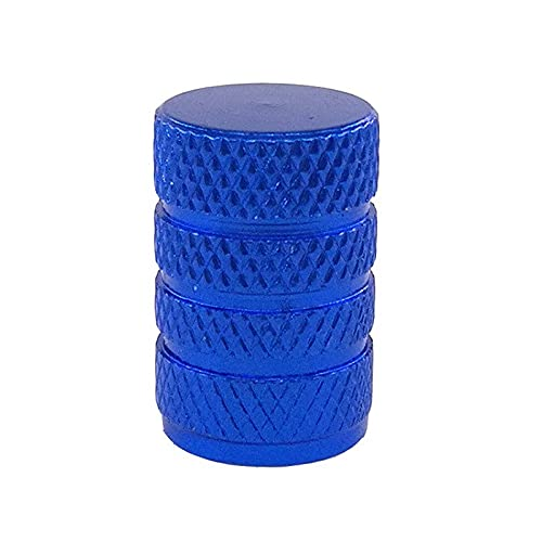 Tapas de válvulas 4 piezas de aluminio redondo para válvula de neumático para coche, bicicleta, motocicleta, aleación de válvulas, accesorios para neumáticos (color: azul)