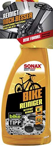 SONAX BIKE Reiniger (750 ml) - Fahrradreiniger für Aluminium, Mattlacke, Carbon- & Kunststoffoberflächen, reinigt Kette & Zahnkränze, für E-Bikes, materialschonend | Art-Nr. 08524000
