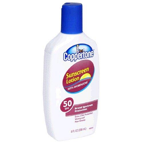 Coppertone Sunscreen Lotion with Avobenzone, 50 SPF, 8 fl oz (236 ml) by Coppertone