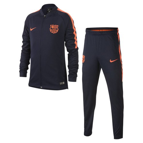 Nike FCB Y NK Dry SQD TRK K, Fußball-Trainingsanzug, Unisex, Kinder M Ossidiana/Ossidiana/Rosso