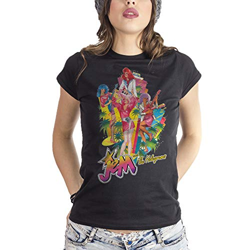 MUSH Eighteen Clothing Funny T-Shirt L Donna Jem And The Holograms Cartoon