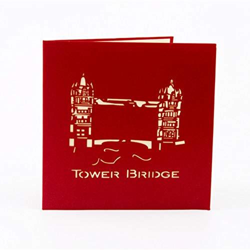 Yalatan 3D-Karten Papier Craft Grußkarten, Einladungen Valentine Lover Geburtstag Hochzeitstag Grußkarten