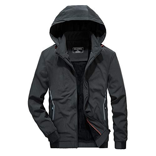Men's Outdoor Jacket Winter Coat With Men's plus velvet thickening-army green _XL