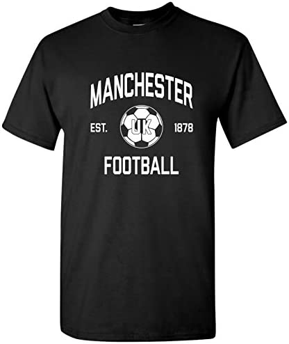 Manchester UK Away Kit World Classic Soccer Football Arch Cup T Shirt 2X Large Black product image