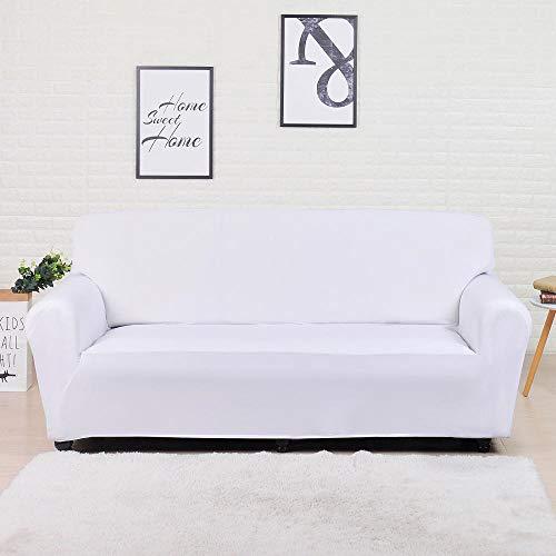 ASCV Fundas Lisas de patrón sólido Funda de sofá Fundas de sofá elásticas para Sala de Estar Funda de sofá Toalla de sofá Silla Funda de sofá A8 1 Plaza