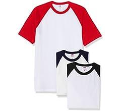 Fruit of the Loom Baseball Classic Short Sleeve Camiseta, Blanco ...