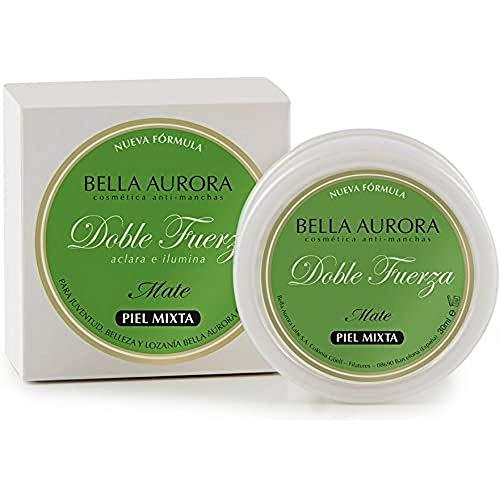 Bella Aurora Anti-Manchas Crema Clásica Piel Mixta-Grasa Noche, Quitamanchas Facial, Codos y Rodillas, Despigmentante Facial Manchas Piel, Doble Fuerza, 30 Mililitros