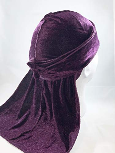 Deluxe Velvet Durag (Dark Purple)