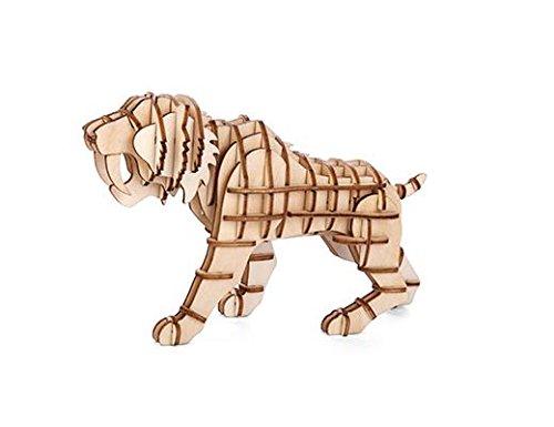 KIKKERLAND GG108Tiger 3D Wooden Puzzle