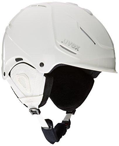 Uvex Damen P1Us Pro WL Skihelm, Clear White Skyfall, 55-59 cm
