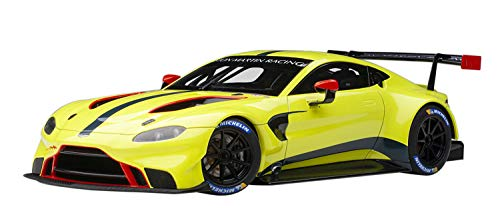 2018 Aston Martin Vantage GTE Le Mans PRO Presentation Car Lemon Green Metallic with Carbon and Red Accents 1/18 Model Car by Autoart 81807