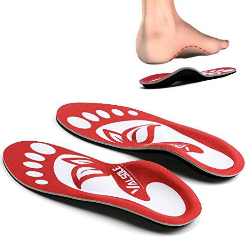 VALSOLE Orthopädische Einlegesohlen Für Damen & Herren High Arch Foot Support Medizinische Funktionelle schuheinlagen Insert für Plattfüße, Plantar Fasciitis, Fußschmerz (40-41 EU (260mm), rot-v7a)