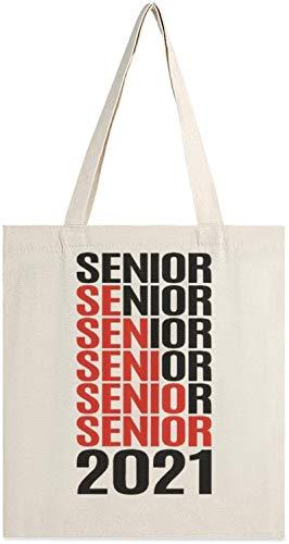 MODORSAN Senior 2021 Png Canvas Tote Bag, bolsos de hombro, bolsos de compras para niñas, bolsos de artículos diversos, bolsos para llevar libros