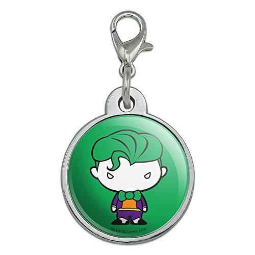 GRAPHICS & MORE Batman Joker Cute Chibi Character Chrome Plated Metal Pet Dog Cat ID Tag