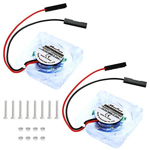 Seamuing Raspberry Pi 4 ventilador 5 V 30 mm: 2 unids DC sin escobillas refrigeración LED ventilador disipador de calor 3.3 V 5 V para Raspberry Pi 4 3B+ 3B 2B+