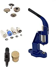 720 Sets 4 Piece 15mm Bronze Snap Buttons with Manual Press Machine, Dies, Hole Punch Tool.