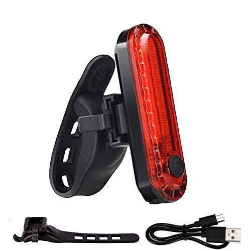 LRIFUE 自行车 尾灯 USB充电LED灯 防水闪烁自行车灯 4种亮灯模式 提高安全灯 夜间行驶的可视性 安装简单