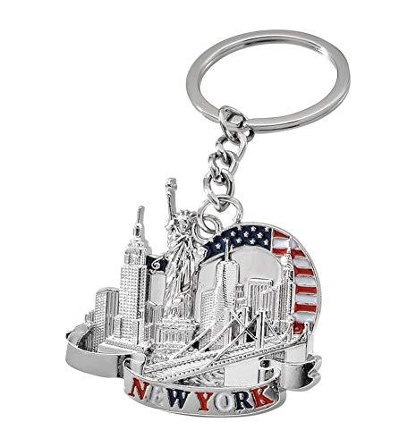 Schlüsselanhänger, Taschenschmuck, Freiheitsstatue, Building, USA-Souvenir.