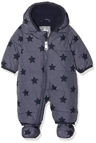 Bellybutton Kids Baby-Unisex Schneeoverall m. Kapuze 1/1 Arm Schneeanzug, Blau (Peacoat 3470), 74