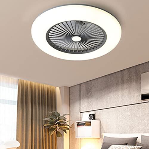 JAKROO Luz de Techo de Ventilador Ultra Delgada, Luces de Ventilador de Techo 36W con Control Remoto, Rotación de reordenar/reversa, Lumen 3000-6000K Regulable, Disponible en Todas Las Estaciones