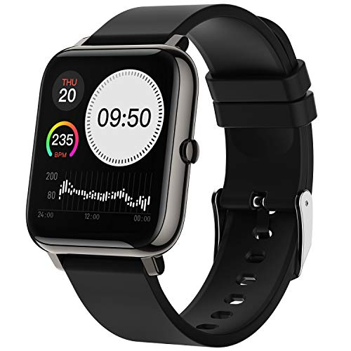 Smartwatch,Fitnessuhr 1.4 Zoll Voll Touchscreen Fitness Tracker mit Pulsmesser und Schlafanalyse, Musiksteuerung, Kamerasteuerung, Sport Armbanduhr für Damen Herren für iOS Android Handy