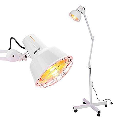 Infrarood IR Verwarming Vloerlamp voor Thermotherapie Spier Pijn Verlichting Accupunctuur Schoonheidsbehandeling - Dimbare Warmte met Stand & Flexibele Arm