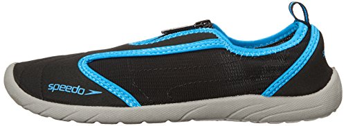 Speedo Women's Water Shoe Zipwalker 4.0 Athletic,Black/Turquoise,8 Womens US