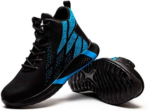 Zapatos de trabajo Botas de Seguridad Zapatos de Seguridad Zapatos Industriales Antideslizantes Zapatillas Ligeras de Malla Transpirable Ligeras,para Construcción Industrial Zapatos de construcción