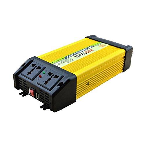 BQ Convertisseur @ Power Inverter DC 12V 24V à 220V AC Convertisseur de voiture avec adaptateur allume-cigare 800W
