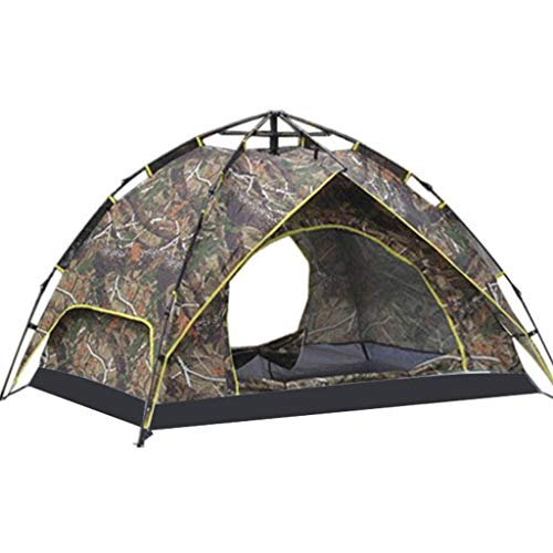 HUNOL Double-Layer Tent, Pop Up Tent Foldable Camping Tent for 3-4People Camping-A