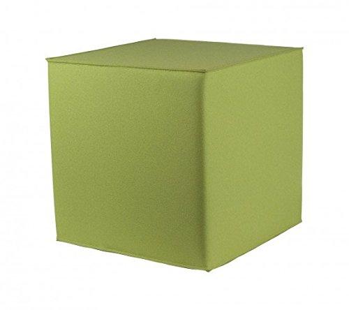 myFilz - Sitzwürfel 40 x 40 x 40 cm aus 3 mm Wollfilz Limone