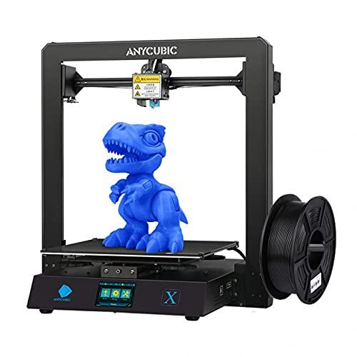 ANYCUBIC Impresora 3D Mega X, FDM 3D con marco de metal, impresión de currículo y filamento PLA de 1 kg, tamaño 300 x 300 x 305 mm